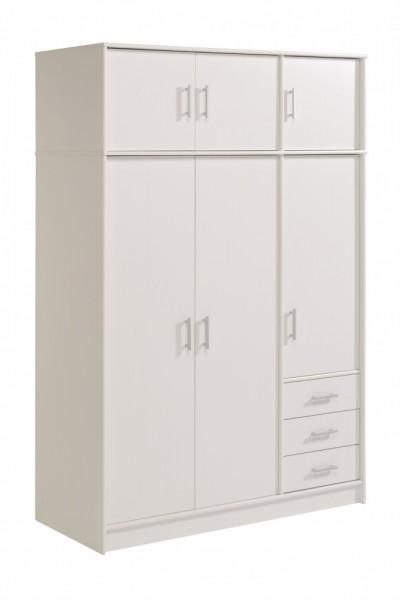 Parisot Infinity   Kleiderschrank Mit Aufsatz 195x130 Cm, Dekor Weiß
