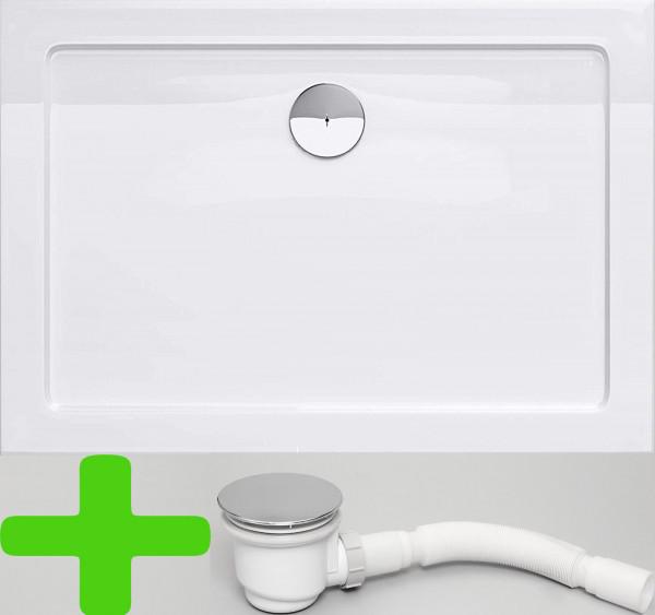 Duschtasse 90x140 cm Duschwanne Wanne Acryl Für Duschabtrennung Duschkabinen Dusche 5cm Flach