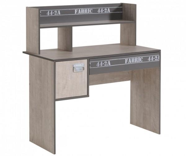 Parisot Fabric - Schreibtisch mit Aufsatz Breite 108 cm