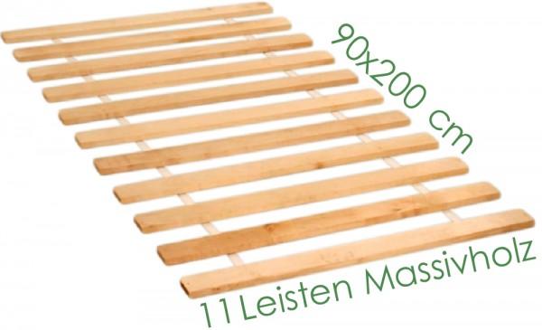 Roll Lattenrost 11 Leisten Massivholz 90x200 cm
