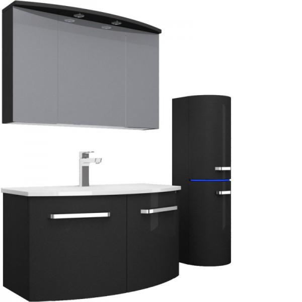 badmobel schwarz, badmbel set schwarz hochglanz. finest badmbelset sylt farbewei, Design ideen