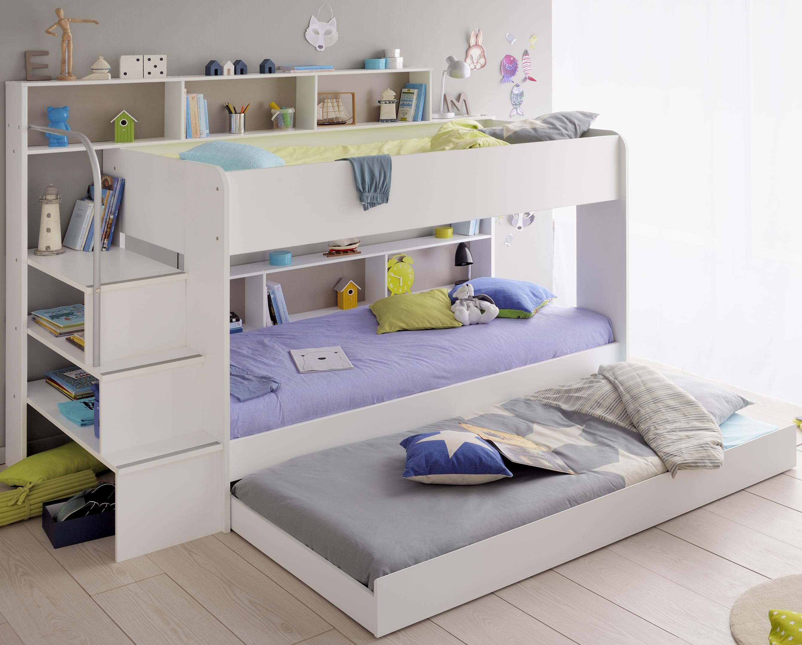 Etagenbett Kinder Weiß : Kinder hochbett weiß massiv mit schreibtisch etagenbett